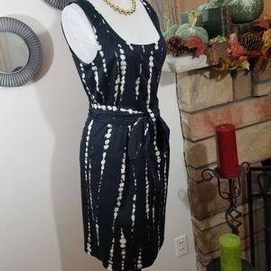 Ann Taylor  sz 6 petite  rayon dress tie dye look